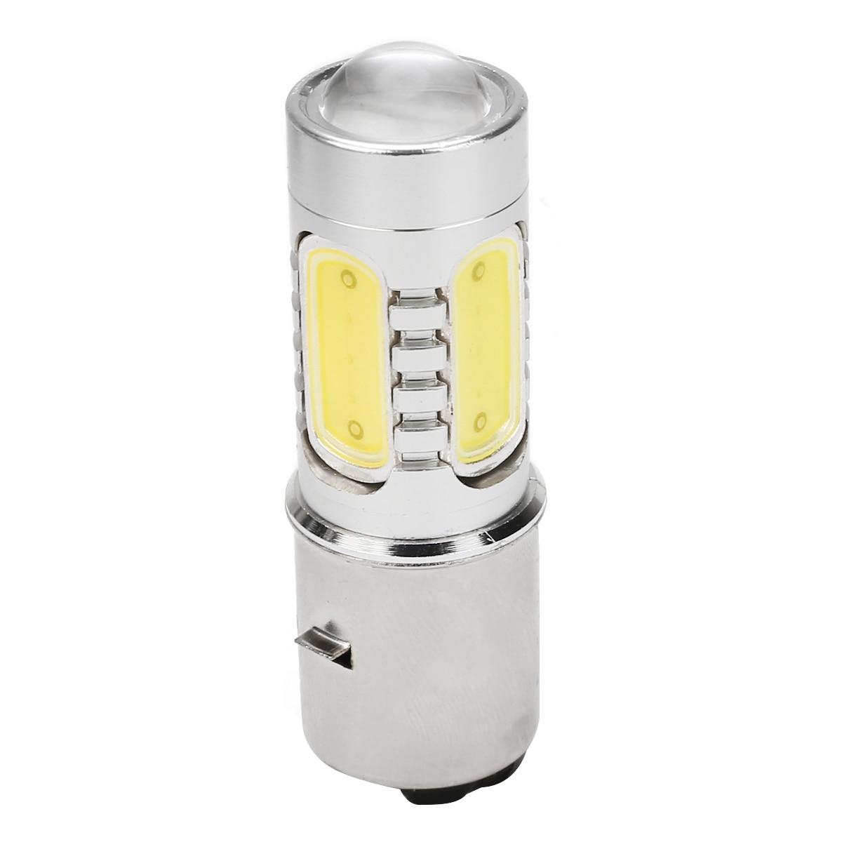 Mayitr 1 шт. BA20D H6 4 COB Светодиодный фонарь для мотоцикла алюминиевый белый Головной фонарь 7,5 Вт лампа для мопеда скутера ATV внедорожный