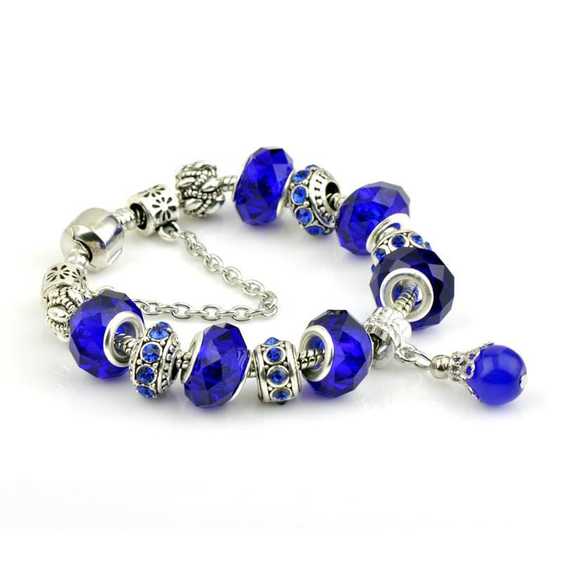 European Style Silver Color pandora Bracelets & Bangles With Simulated Pearl Charms Bracelets For Women Pulseira