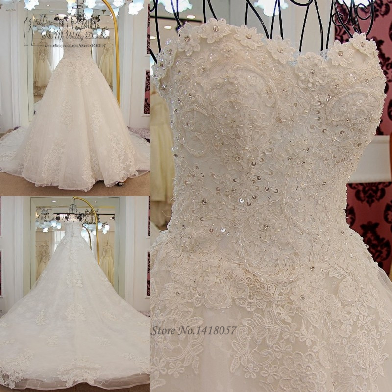 Aliexpress Buy Korean Princess Wedding Dress Plus Size Lace
