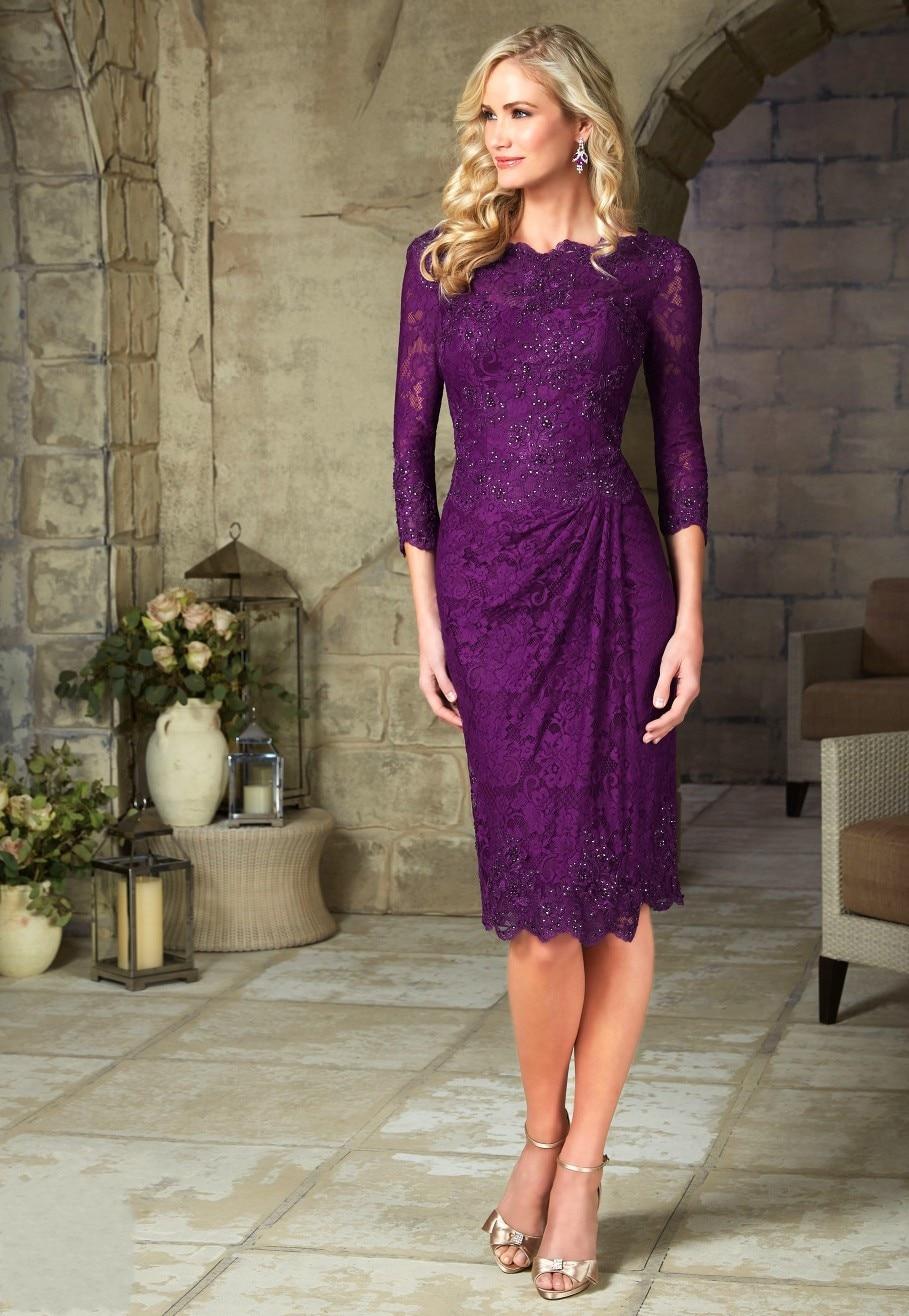 Hot Sale vintage Plus Size mother of the bride dresses 2017 3/4 ...