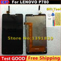 100% New Original LCD Display and Touch Screen Digitizer Assembly TP For lenovo p780 + Tool + Free Shipping Waterproof packaging