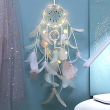The inheritors Indian girl heart dream catcher woven home decoration LED lights creative birthday gift wedding