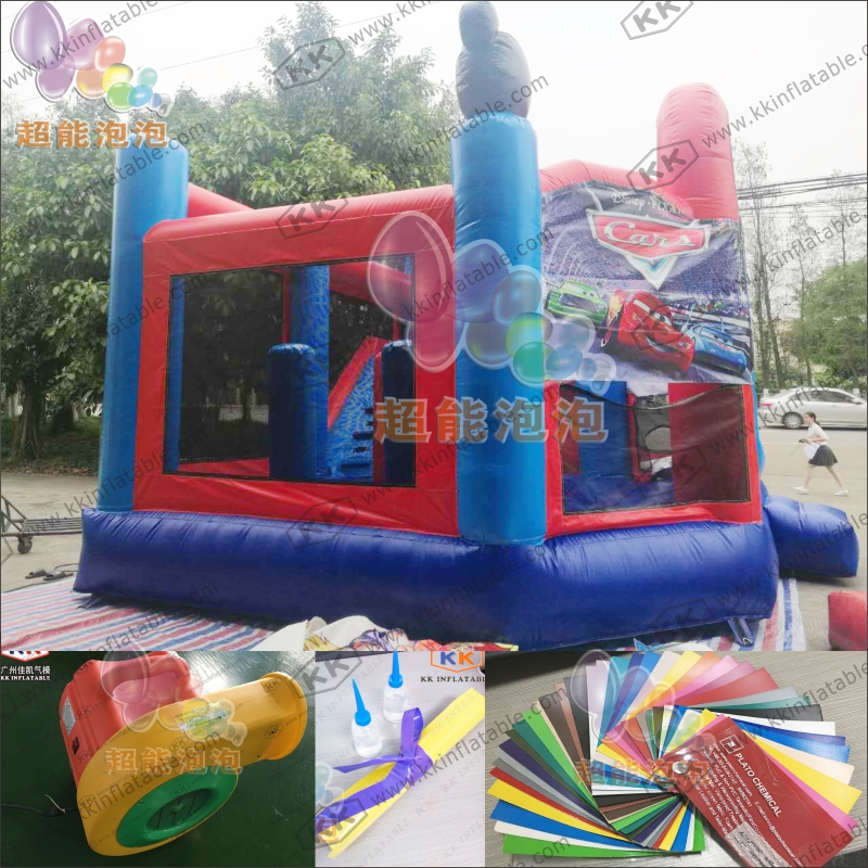 Commercial Use Bouncy Castle Slide, Cartoon Theme Bounce House Slide for Rental