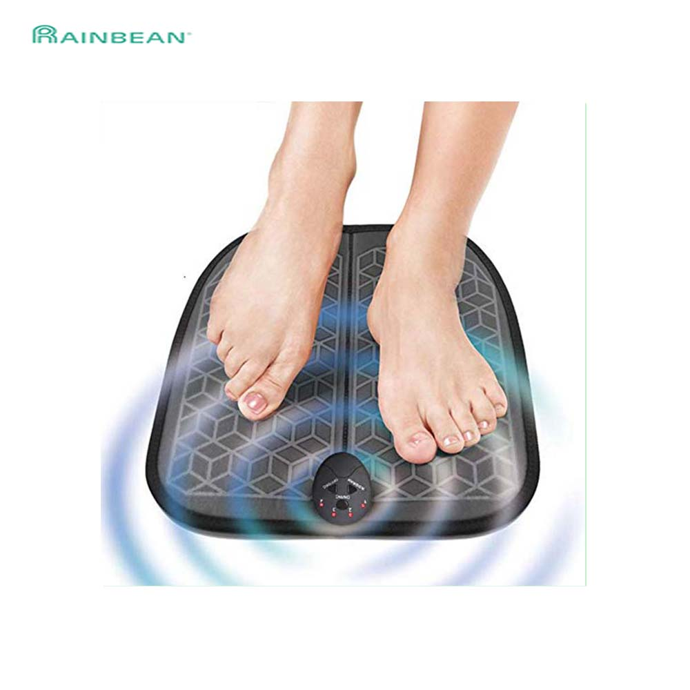 EMS Foot Massage Mat ABS Muscle Stimulator Gift For Dad And Mom Battery Powered 1~10 Intensity Levels Six Modes