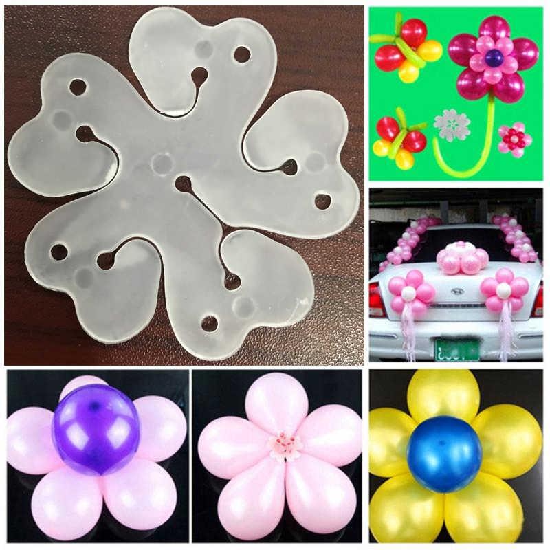 新 10 個の花風船装飾アクセサリー梅クリップ実用的な誕生日ウェディングパーティープラスチッククリップの膨張可能なバルーン