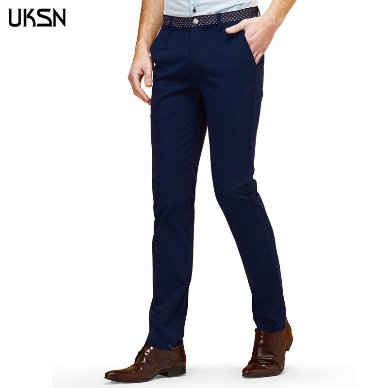 Brand Men Casual Dress Slim Suit Pants Formal Mens Khaki Chino Pants Male Zipper Fashion ...