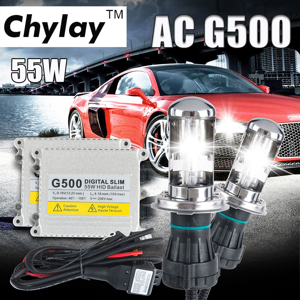 1 kit de lampes au xénon h4 kit de conversion G500 hid h4-3 au xénon faisceau au xénon bi 4300 k 6000 k 8000 k h4 hi basse xénon