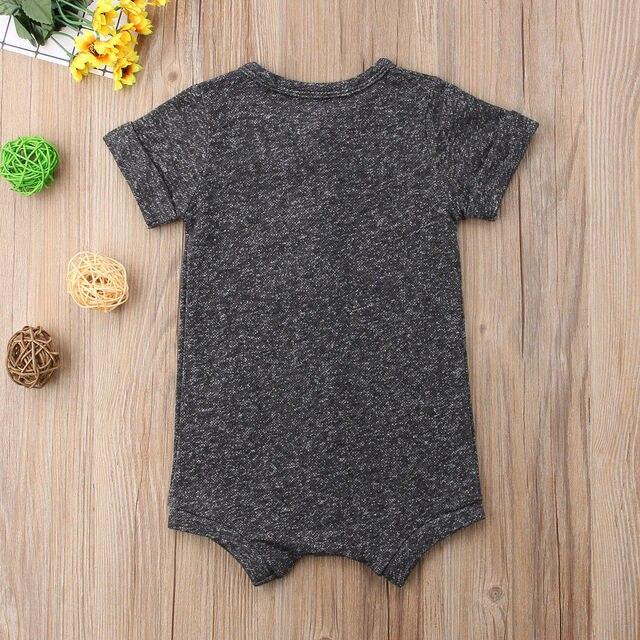 Summer Newborn Toddler Baby Boy Romper Infant Girls Casual Jumpsuit Cotton Short Sleeve Onesie Sunsuit Clothes 2
