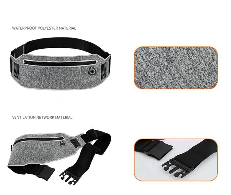 Professional Running Waist Pouch Belt Sport Belt Mobile Phone Men Women With Hidden Pouch Gym Bags Running Belt Waist Pack (20)