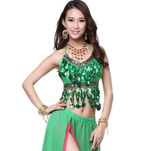 Belly dance top belly dance practice costume top diamond chiffon spaghetti strap top