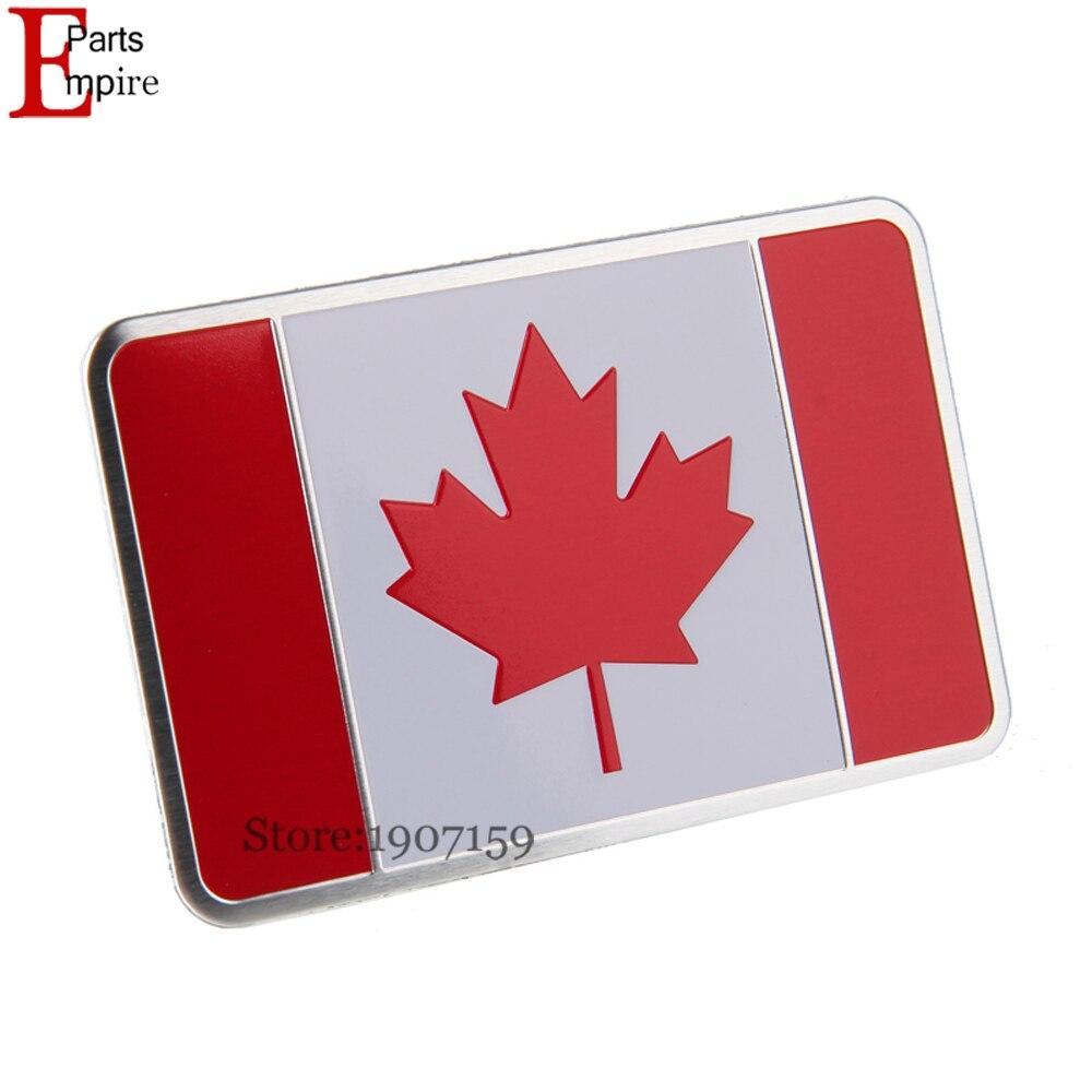 Car Styling Aluminium Alloy Canada Canadian Flag Logo Emblem