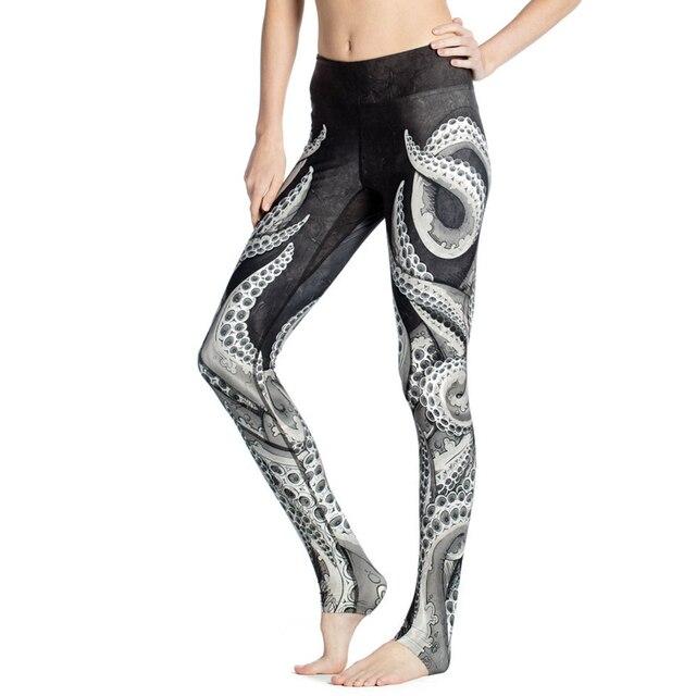 2016 Summer Women Pants Octopus Tentacle 3D Printing Leggings Fitness Leggins Ankle-Length Calzas Mujer For Girl Woman