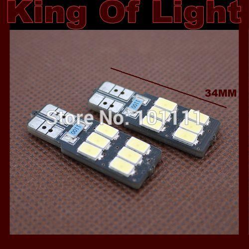 10x canbus Car led 194 W5W 6smd T10 6 leds smd 5630 canbus obc error free no error LED Light Bulb Lamp+no polarity Free shipping