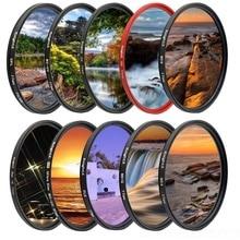 KnightX FLD UV CPL phân cực ND Ngôi Sao Bộ Lọc Ống Kính Camera Cho Canon Sony Nikon 52mm 58mm 67mm D600 18 200 D5300 1300D 18 135