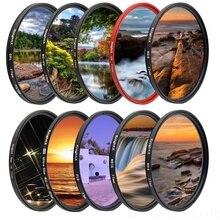 KnightX FLD UV CPL polarizador ND Star Filtro de lente de cámara para canon sony nikon 52mm 58mm 67mm d600 18 200 d5300 1300d 18 135