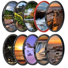 KnightX FLD UV CPL polarize ND Yıldız Kamera Lens Filtre canon sony nikon 52mm 58mm 67mm d600 18 200 d5300 1300d 18 135