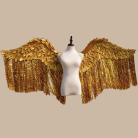 Beautiful silver Angel feather wings Fashion show photo shooting props gold wings EMS free shipping