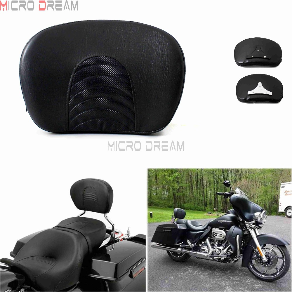 Sissy Bar Backrest Pad W/bracket For Harley Touring Road King Electra Glide Flhx Flhtcu Ultra Classic 1997-2017 Buy One Give One Home