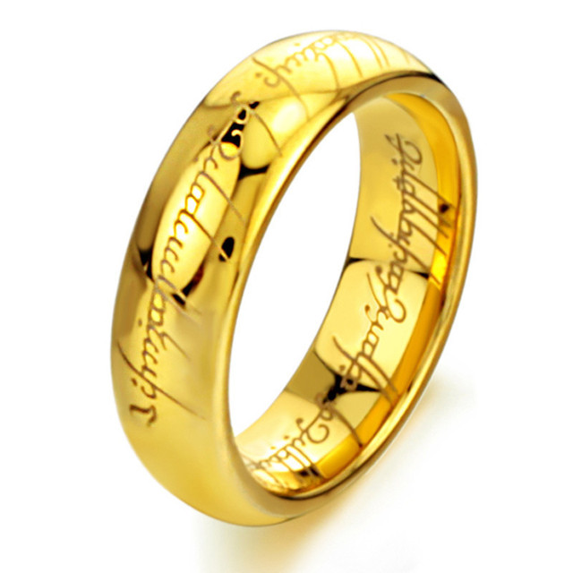 ADOMANER MensThe Lord of Stainless Steel Ring Engagement Cocktail