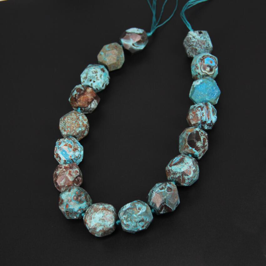 15.5inches strand Sky Blue Ocean Stones Large Stones Faceted Nugget Beads Necklace,20-25mm Big Raw Gems Drilled Cut Pendants hattie big sky