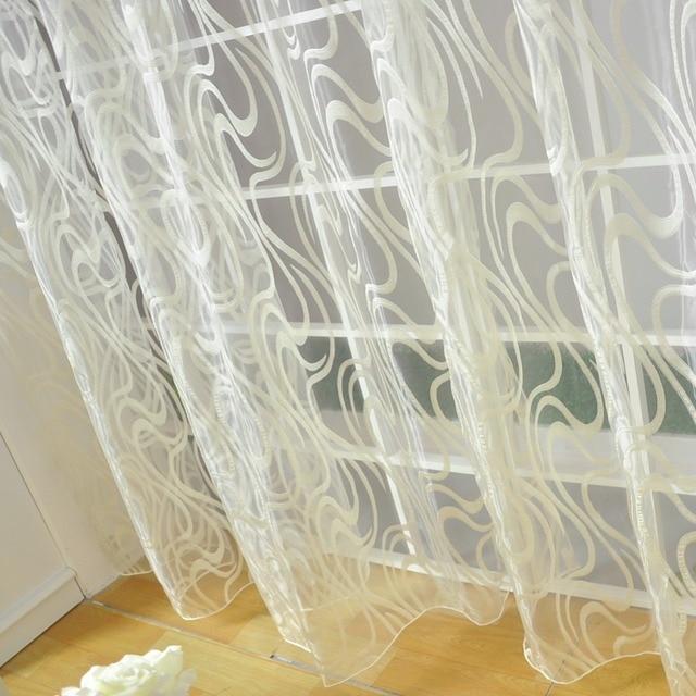 NAPEARL stile Europeo a strisce disegno jacquard ready made tende trasparenti tende semplice e moderno tulle organza tenda di finestra del soggiorno