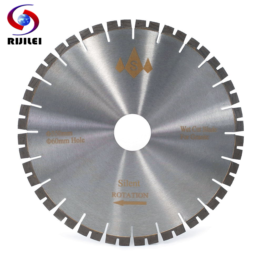 RIJILEI 350MM Silent Diamond Granite Saw Blade Profession Cutter Blade For Granite Stone Cutting Circular Cutting Tools