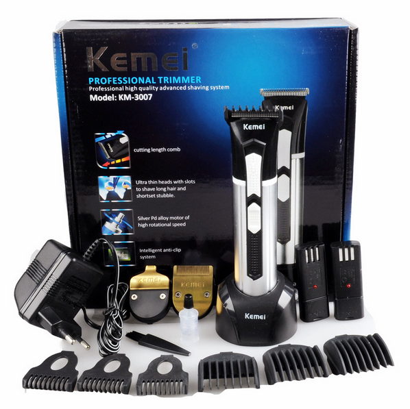 KEMEI 3 IN 1 Professional Rechargeable Electric Hair Trimmer Hair Clipper Professional Men And Baby Hair Cutting Machine KM-3007