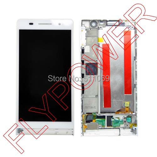 ФОТО for Huawei Ascend P6 LCD Display with Touch Screen Digitizer +Frame White Color by free shipping