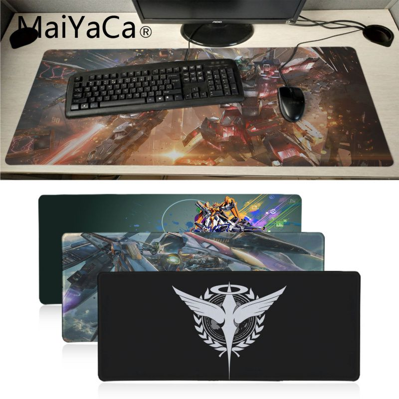 Maiyaca Japanese Anime GUNDAM Anti-Slip Durable Rubber Computermats Locking Edge Gaming Mousepad Mat Keyboard Mat Table Pad