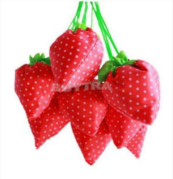 1 Stücke Nette Cartoon Lagerung Tasche Großhandel Faltbare Erdbeere Einkaufstasche Einige Farben