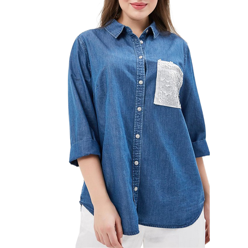 Blouses & Shirts MODIS M181D00179 woman blouse shirt blusas for female TmallFS женская футболка waqia 2015 t cueca blusas femininas 4