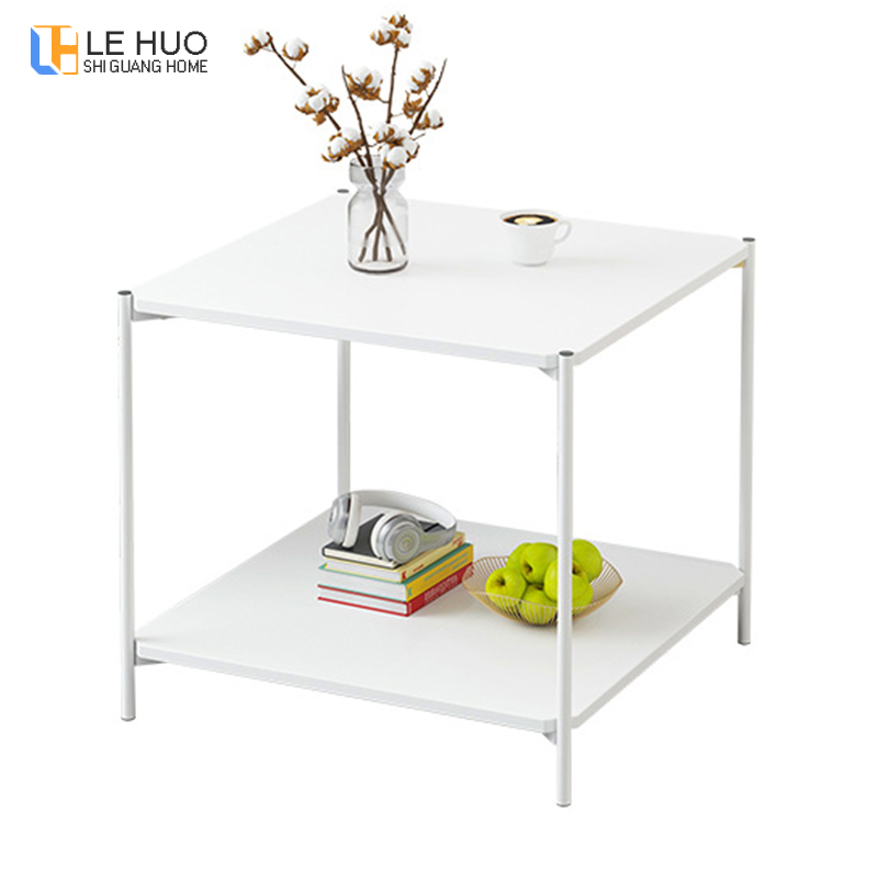 US $48.0 50% OFF|Marble texture Wood Double layer Coffee Table Living room  Sofa Side Table Small Dining Table Small end Table Home Furniture-in Coffee  ...