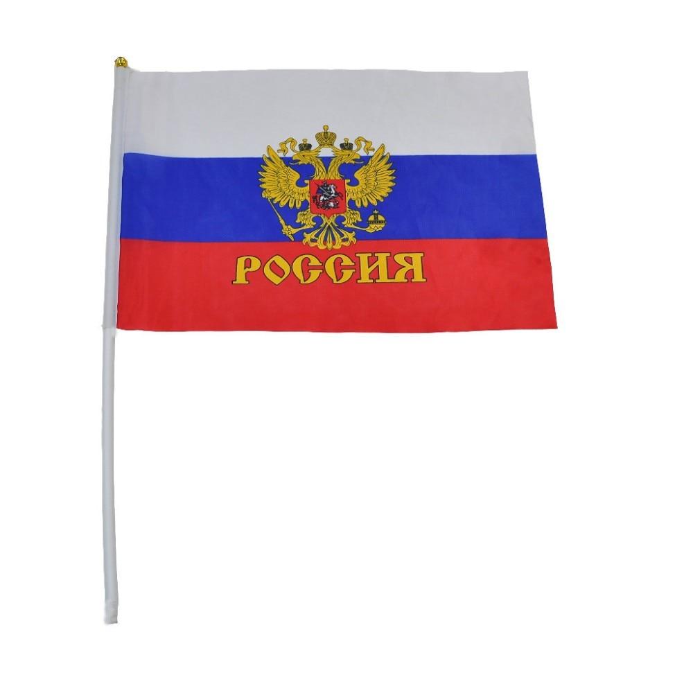 2018 10st Små Rysslands flagga 14 * 21CM Ryska flaggan handens - Heminredning - Foto 2