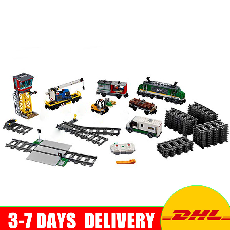 Lepin 02118 City Trains Cargo Train 60198 Building Kit Building Blocks Bricks Car Model DIY toys for children Christmas Gifts