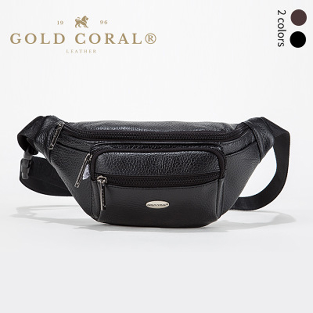 GOLD CORAL Genuine Leather Casual Belt Waist Bag For Men Phone Pouch Travel Bum Hip Waist Pack Men's Phone Case bag Fanny Pack case for phone woodland leather case for phone