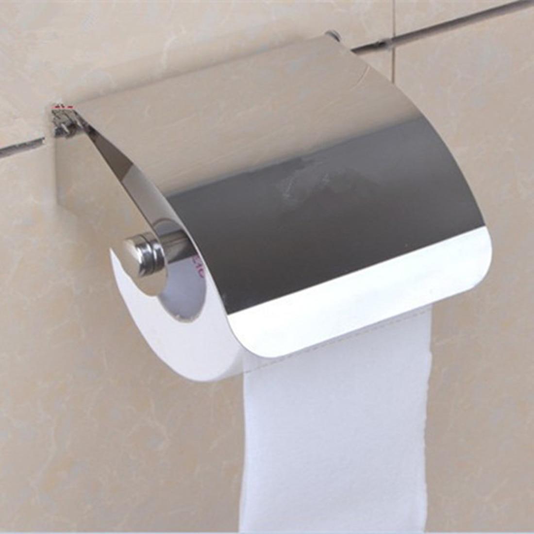 bathroom accessories stainless steel toilet paper roll holder creative bathroom wall mount rack. Black Bedroom Furniture Sets. Home Design Ideas