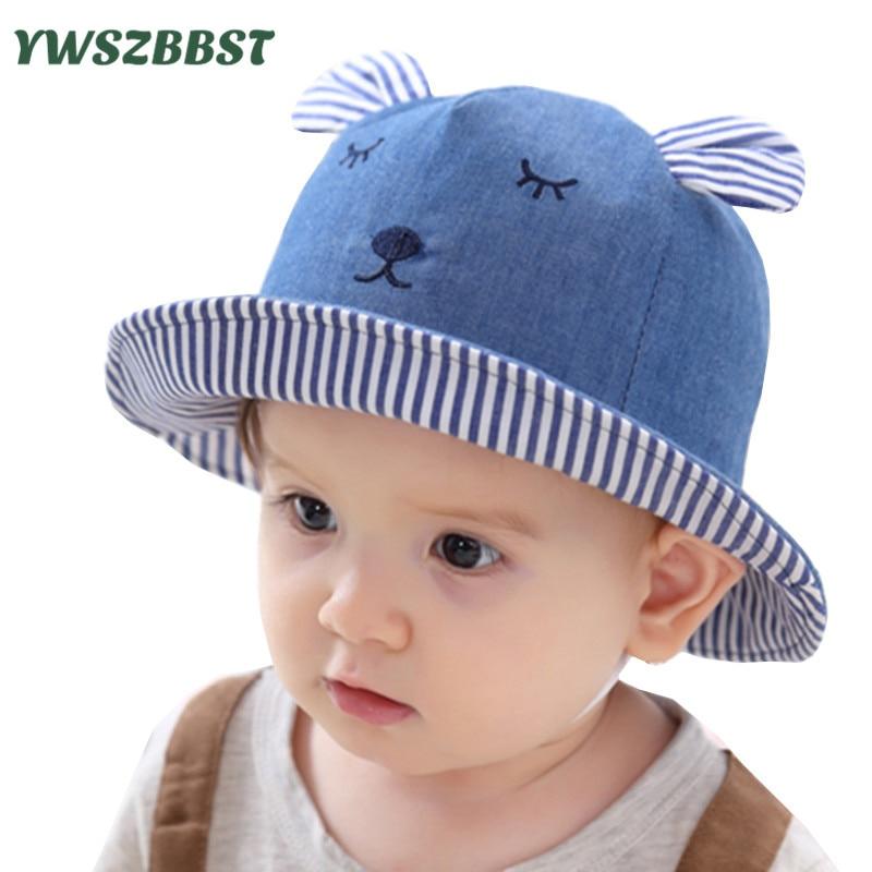 6477baa7134d6 New Fashion Cowboy Baby Sun Hat Summer Cap for Boys Bucket Hats for Girls  Rabbit ears