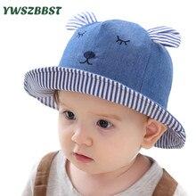 New Fashion Cowboy Baby Sun Hat Summer Cap for Boys Bucket Hats Girls Rabbit ears Kids Caps