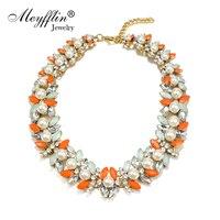 New Fashion Luxury Imitation Gemstone Pearl Fake Collar Statement Necklaces Pendants Gift For Women Men Colares