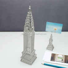 FREE SHIPMENT J36 CHRYSLER BUILDING STATUES/WIRE MODEL STAINLESS HAND-MADE ART CRAFTS WEDDING&BIRTHDAY&HOME&OFFICE&GIFT&PRESENT