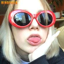 46edb3eb26d Hindfield Kurt Cobain Sunglasses Women Brand Designer Vintage Oval Sun  Glasses