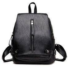 2017 женские туфли из искусственной кожи рюкзак женские рюкзаки для девочек-подростков школьные сумки черный летние винтажные Рюкзак Mochila Mujer F093