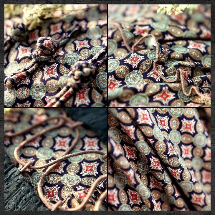 Femmes printemps automne Vintage robes robe ethnique col Mandarin une ligne femme Maxi robe broderie Bandage Vestidos J2949 - 4