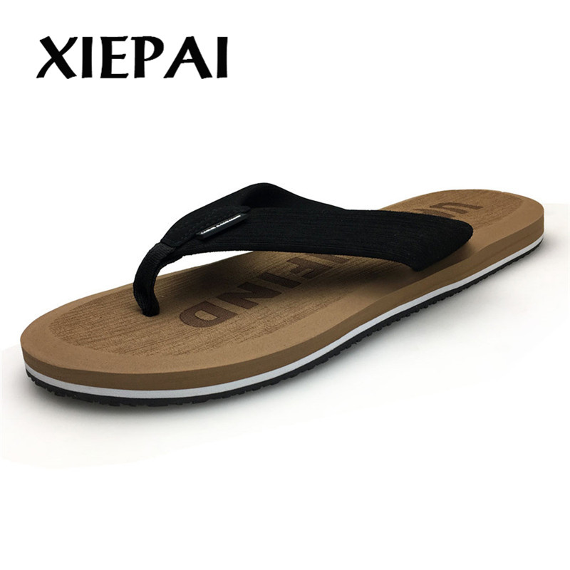 Image 2 - 2019  Beach / House Slippers Men Fashion Flip Flops Size 41 46 Designer Man Casual Summer Shoes-in Flip Flops from Shoes