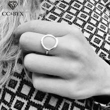 Женское кольцо из нержавеющей стали cc винтажное простое круглое