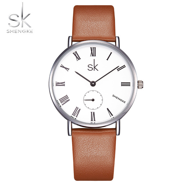 Shengke 2017 наручные часы Для женщин Часы дамы Элитный бренд кварцевые часы для Для женщин Женский Часы Relogio feminino Montre Femme