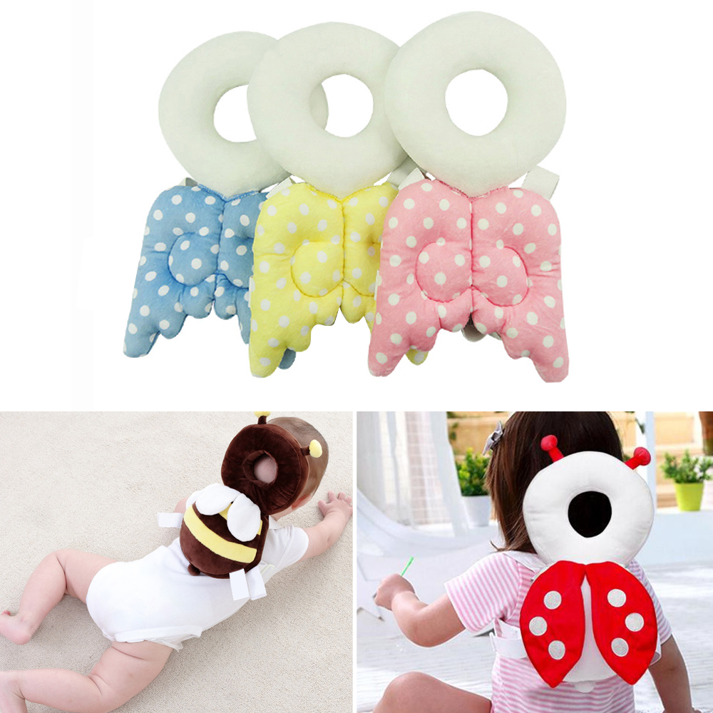 Baby Pillow Infant Head Protector Pillow Child Cushion Newborn Headrest Pillows Angel Wings Head Protection Pad Nursing Pillows