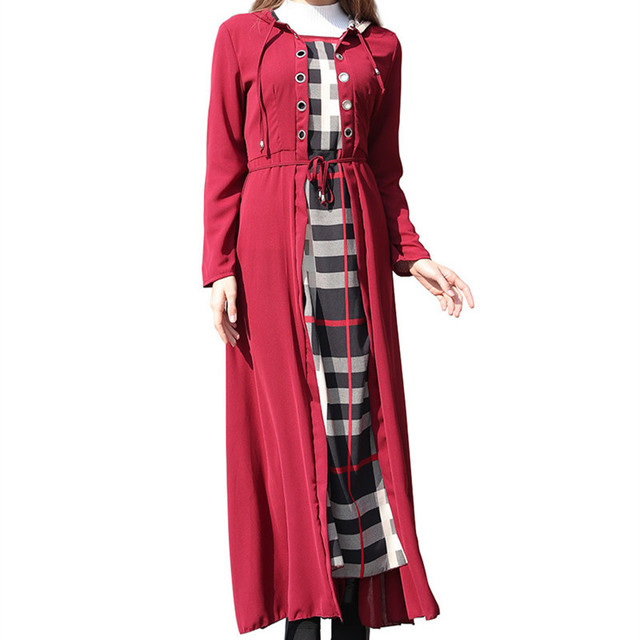 67302f410922d Dubai Dresses Evening Abaya Maxi Dress Muslim Women Islamic Robe Kaftan  Moroccan Dress Modest Dress-in Islamic Clothing from Novelty & Special Use  on ...