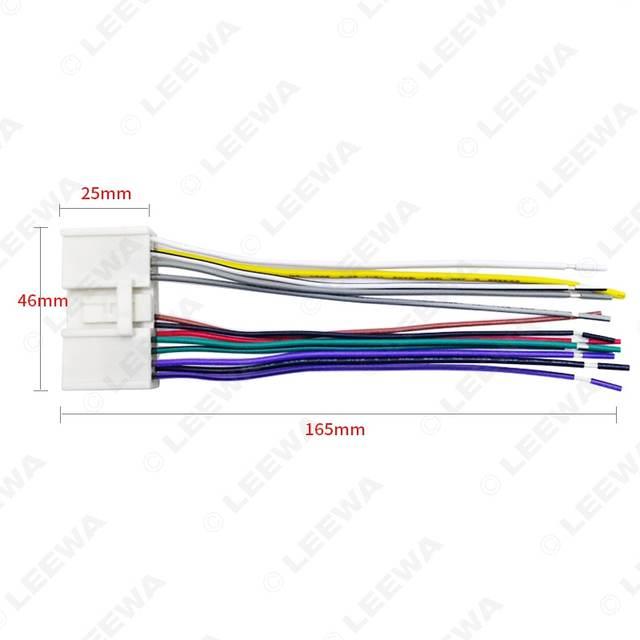 Online Shop LEEWA CD Mobil Radio Audio Power Harness Kabel Adapter on 2 wire sensor, 2 wire pump, 2 wire hose, 2 wire relay, 2 wire starter, 2 wire switch, 2 wire plug, 2 wire brush, 2 wire wiring, 2 wire ring, 2 wire rope, 2 wire light, 2 wire motor, 2 wire alternator, 2 wire lamp, 2 wire solenoid, 2 wire gateway,