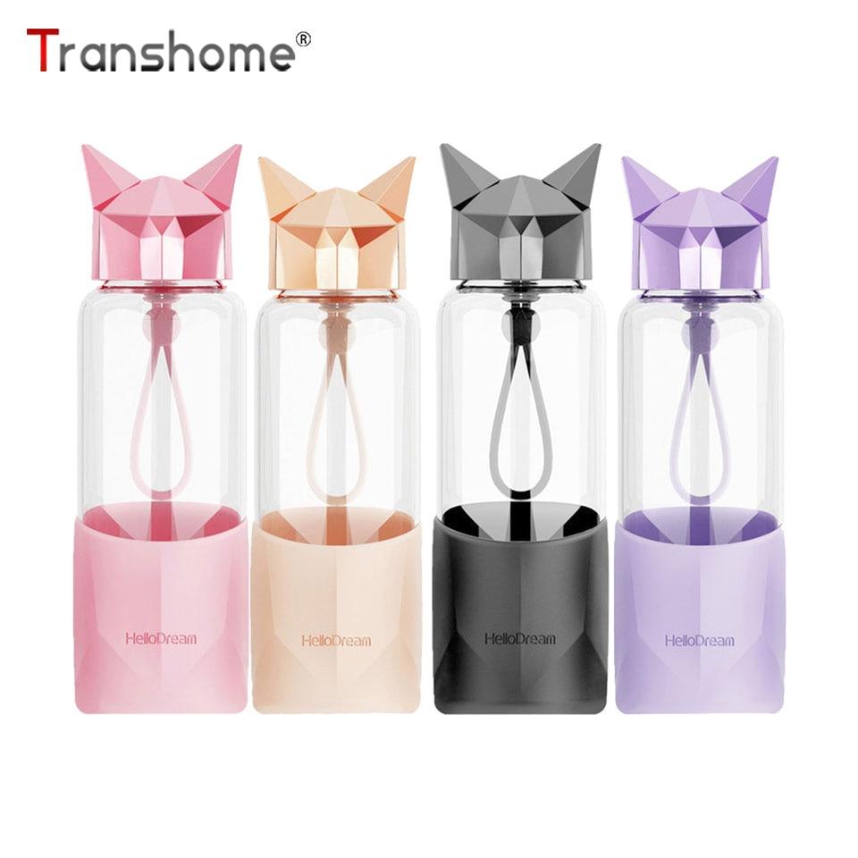 Transhome Creative Glass Water Bottle Bpa Free Water
